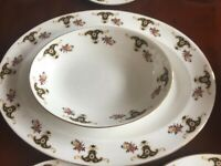 Pristine Antique 11 Piece Sheltonian Fine Bone China Plates Serving Dish Dinnerware Crockery Set