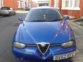 Car, Sportwagon, Alfa Romeo 156 2.4 JTD 2003 Estate.