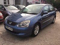 Honda Civic 1.6 i VTEC SE 5dr£945 p/x welcome FREE WARRANTY & NEW MOT