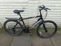 mens apollo aluminium lightweight bike, new lights,d-lock ready to ride FREE DELIVERY