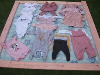 baby girls clothes 3 to 6 months.