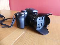 Panasonic FZ200 - original box, docs., lens cap, lens hood, bag and charger (no battery or SD Card)
