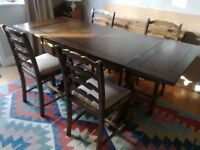 Priory dining table and 4 chairs.
