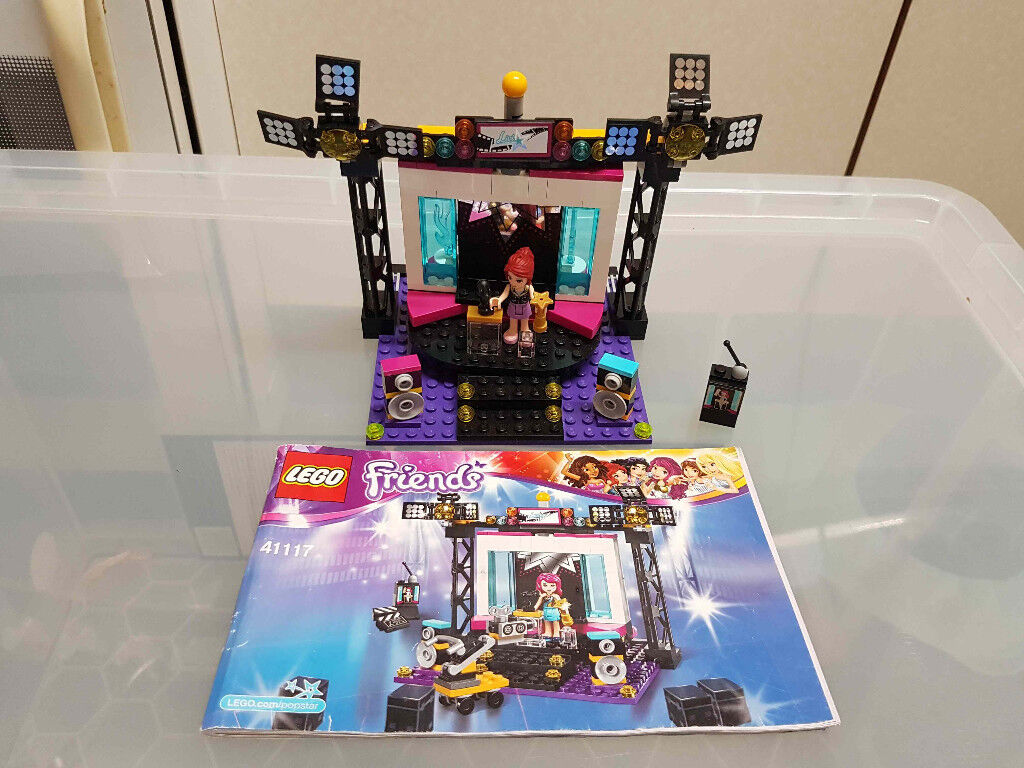 Lego Friends Pop Star Tv Studio 41117 With Box And Instructions In