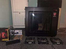 Corsair PC Case, 5 Corsair LED Fans and NZXT Fan Controller