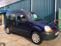 RENAULT KANGOO RN 1.4 GLENEAGLES DISABLED CONVERSION, Y REG 2001...76,000 MILES...VERY DESIRABLE!!!