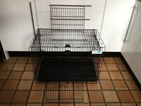Large Metal Rust Resistant Rabbit Hutch / Cage 30L x 17W x 20H Inches 76Lx43Wx