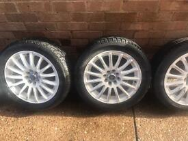 Full set of alloy wheels