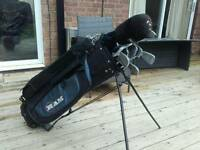 Golf Clubs, bag, balls, tees and gloves