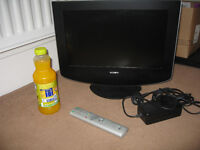 Small SONY TV with remote