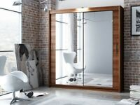 ☀️☀️LIMITED OFFER☀️☀️ Same Day Delivery -- 2 Door Sliding Mirror Wardrobe -- 5 Different Sizes