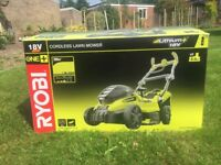 New Ryobi Cordless Lawn Mower with 2 batteries