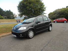 CITROEN C3 VTR HATCHBACK 1.4 STUNNING BLACK 2009 ONLY 59K MILES BARGAIN ONLY £1850 *LOOK*PX/DELIVERY