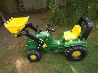 John Deere Child's ride on tractor
