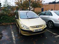Peugeot 307 -2001, 1.4L Petrol, 83k miles, 11/12/16 MOT. Only £175