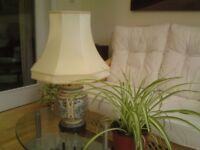 Table Lamp c/w Shade - Unusual Oriental Base Design. Perfect condition