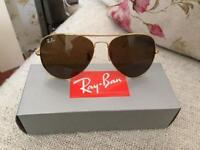 Rayban 3026 GOLD aviator sunglasses, boxed