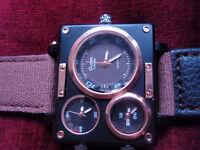 men's watch. latest design. quartz movement. multi face.