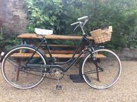 Vintage ladies BSA 1950/1960s bicycle shopper with basket c