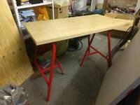 Stylish Ikea trestle desk
