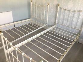2 Ivory Coloured Single Beds