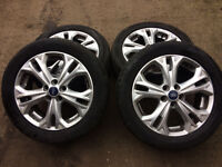 ford galaxy mk3 titanium alloy wheel set with tyres for sale