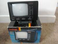"Goodmans Quarto 901 5"" B/W portable television with AM/FM radio"