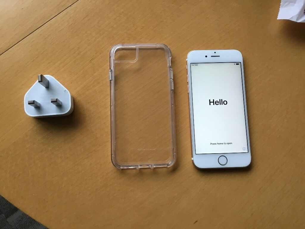 Apple iPhone 6s with charger and case Unlocked