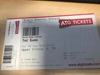 THE BAND TICKETS KINGS THEATRE GLASGOW SATURDAY 30TH JUNE 2.30PM