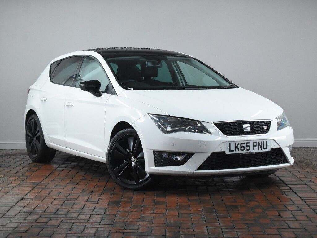 seat leon 1 4 tsi 125 fr black technology 5dr white 2015. Black Bedroom Furniture Sets. Home Design Ideas