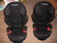 Two Maxi Cosi Rodi Air Protect car seats 4 - 12 years