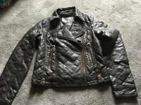 Atmosphere ladies faux leather waist jacket size 10 used in good condition brown colour £5