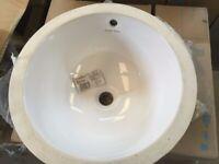 Armitage Shanks S257001 White Cherwell 42 cm Under Countertop Round
