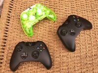 Three Xbox One Controllers for Spares or Repairs