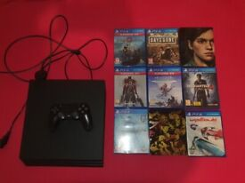 PS4 Pro + 9 Games Including The Last of Us 2