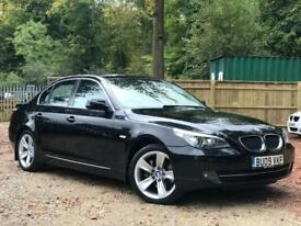 2009 BMW 5 SERIES 520D 2.0 SE SALOON 4 DR DIESEL AUTOMATIC LCI BLACK 1 OWNER ++ FULL BMW HISTORY