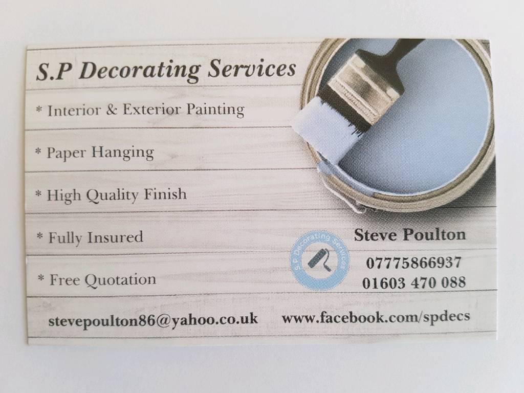 * Steve Poulton * Professional Painter & Decorator