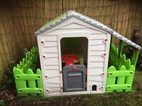 Farm playhouse with fencing