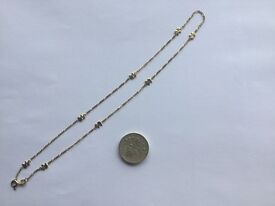 """16"""" GOLD CHAIN NECKLACE. INTERSPERSED WITH ELEPHANTS. ORIGINAL PRICE £100 LOOKING FOR £55 OVNO"""
