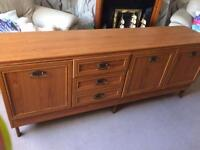 Teak Sideboard and Dining Room Table and Chairs