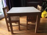 Ikea Svala Kids Table & 2 Chairs