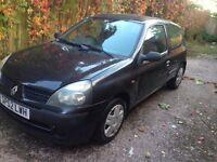 2002 Renault Clio 1.2 Petrol 3Door Hatchback 12 MONTHS MOT,LOW MILEAGE +SERVICE HOSTORY,2KEYS