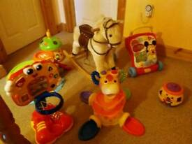 Toys rocking horse garage and loads more
