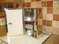 Croydex Trent lockable stainless steel medicine cabinet with mirror