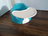 Bumbo floor seat with play tray in Aqua