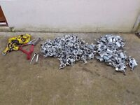 Scaffolding clips 77 doubles and 66 Singles and 3 x scanners and Big Ben Fall Arrest Harness
