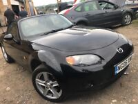 2006 mx5 convertible in black, mot September, currently sorn.