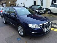 VW VOLKSWAGEN PASSAT 2.0 TDI CR HIGHLINE DIESEL BLUE 2008 HEATED CREAM LEATHERS FULL SERVICE HISTORY
