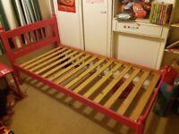 Free pink wooden bed frame