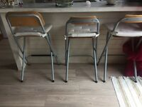 Bar stools for sale £25 for 3